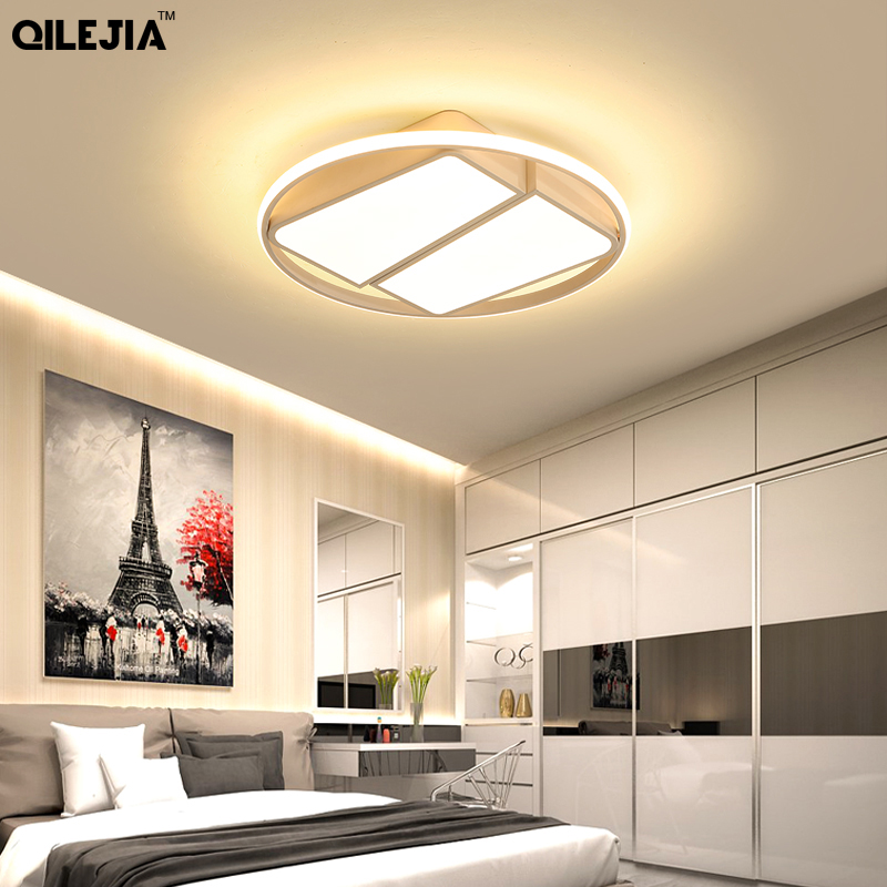 Modern Led Ceiling Chandelier For Living Room Bedroom Wedding Room White Black Color Acrylic Shade 85 265V Chandeliers Fixtures