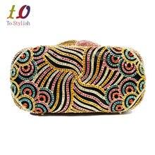 Stilvolle Kristall Abendtasche Frauen Luxus verzierte Diamant Party handtasche prom Geldbörse Hochzeit handtasche 88222