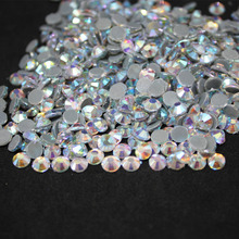 Crystal AB(blue) SS16-SS40 Machine Glass Material DMC Hotfix Rhinestones Flatback For Clothing Decoration