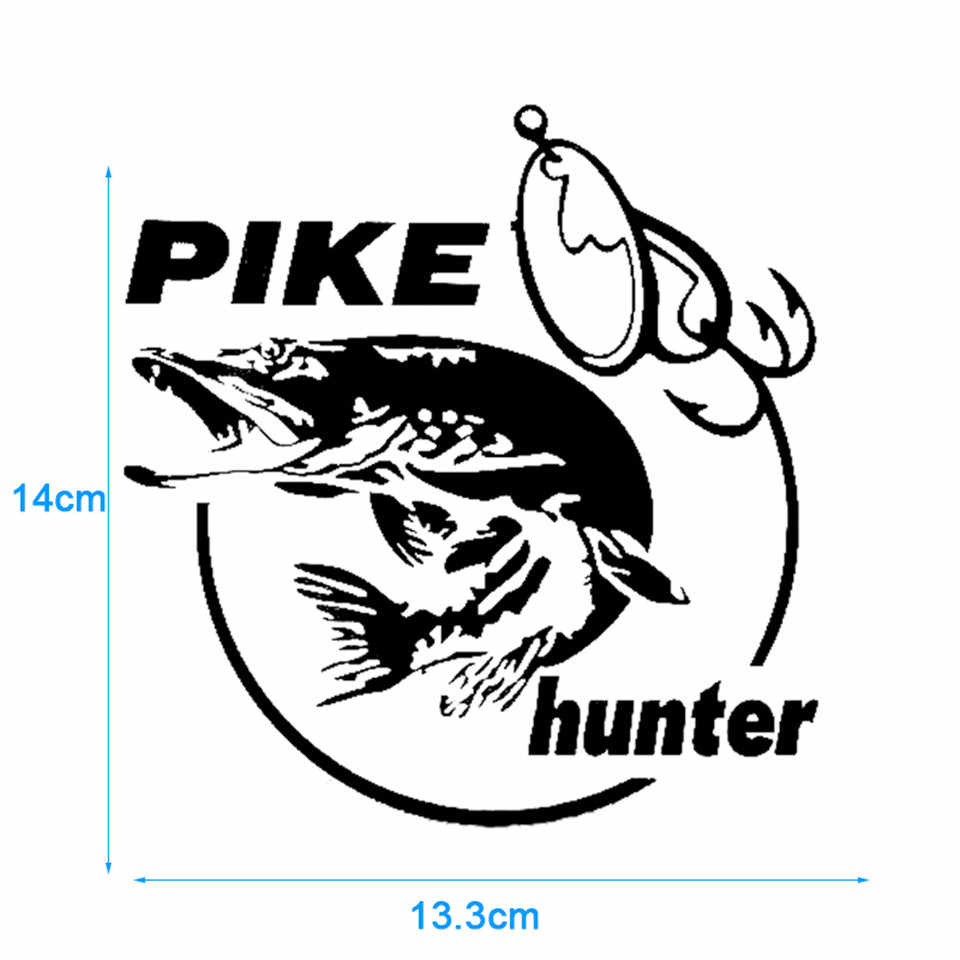 Pike hunter fish animal car sticker vinyl decal decor car styling fashion car body wall