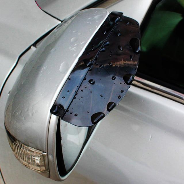 Universal Flexible PVC Car Rear View Mirror Sticker Rain Shield Guard Auto Rearview Mirrors Rain Shade Rainproof Eyebrow Cover
