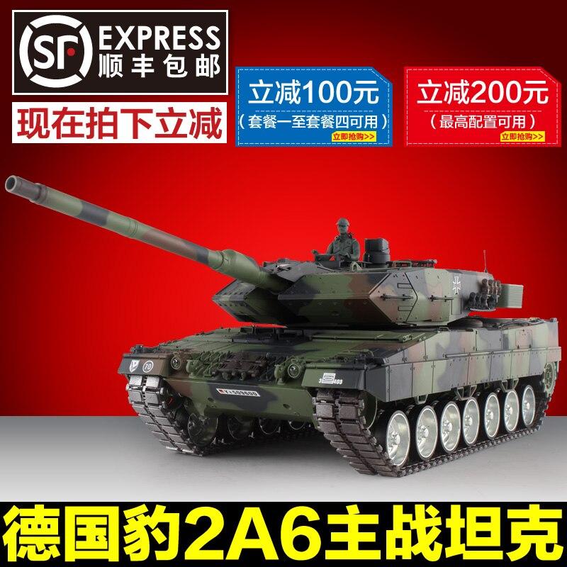 Heng Long 1/16 Leopard 2A6 réservoirs télécommande réservoir modèle militaire surdimensionné métal route roue 2.4G 3889