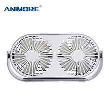 ANIMORE USB Electric Fan Double Leaf Fan MINI New Aromatherapy 3 colors Optional Computer PC Home Office Available Fan