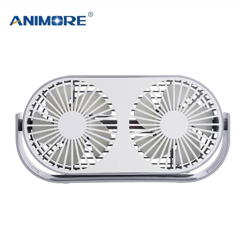 Beliebte Marke Animore Usb Elektrische Fan Doppel Blatt Fan Mini Neue Aromatherapie 3 Farben Optional Computer Pc Home Büro Zur Verfügung Fan üBerlegene (In) QualitäT