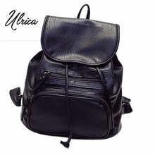 Ульрика новые прибытия женщины кожаные рюкзаки Подростков школьная сумка в daypacks bolsas mochila сумка Ежедневно Рюкзак