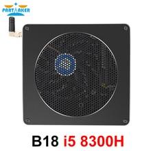 Partaker 8th Gen Intel Mini PC Computer Core i5 8300H 4 Core 8 Threads 32GB DDR4 2*M.2 SSD i5 UHD Graphics 630 Mini DP WiFi