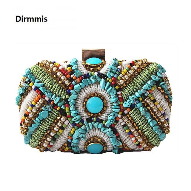 New 2018 Women Party bag vintage European American fashion heavy handmade  folk diamond luxury evening handbag bride Prom Clutch 5018479d4d