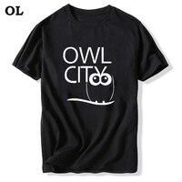 Nowy Zespół Mody Sowa Miasta T Shirt Adam Młoda T Shirty krótki Rękaw tshirt Bawełna O-Neck T-shirty Lato W Stylu Mężczyzna Topy Tee