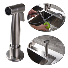 Free shipping 304 stainless steel metal kitchen spray and faucet sprayer with hose and head accessory for kitchen sink washing