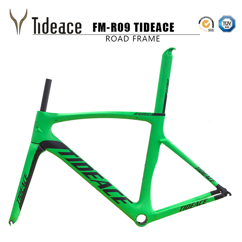 2017 Tideace carbon bike frame 700C bicycle carbon road frameset with fork and PF30BB accessories V brake chinese carbon frames 2017 flat mount disc carbon road frames carbon frameset bb86 bsa frame thru axle front and rear dual purpose carbon frame