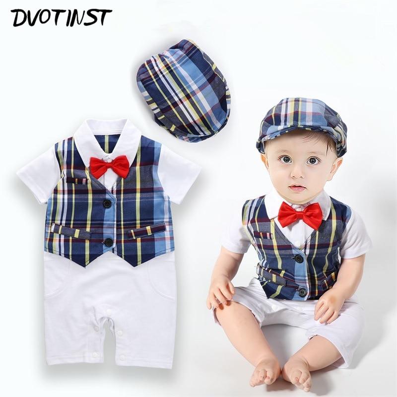 Baby Jungen Hochzeit Anzug Strampler Junpsuit Body Overalls Gentleman Outfits