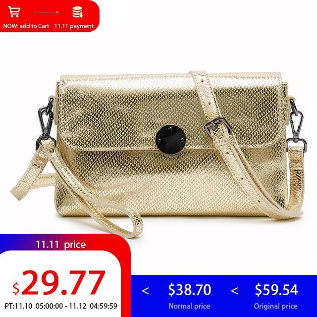 7d93c959c6f Aliexpress.com : Buy LY.SHARK Shoulder Crossbody Bags For Women 2018 Ladies  Genuine Leather Handbag Women Small Messenger Bag Female Clutch Gold Bag ...