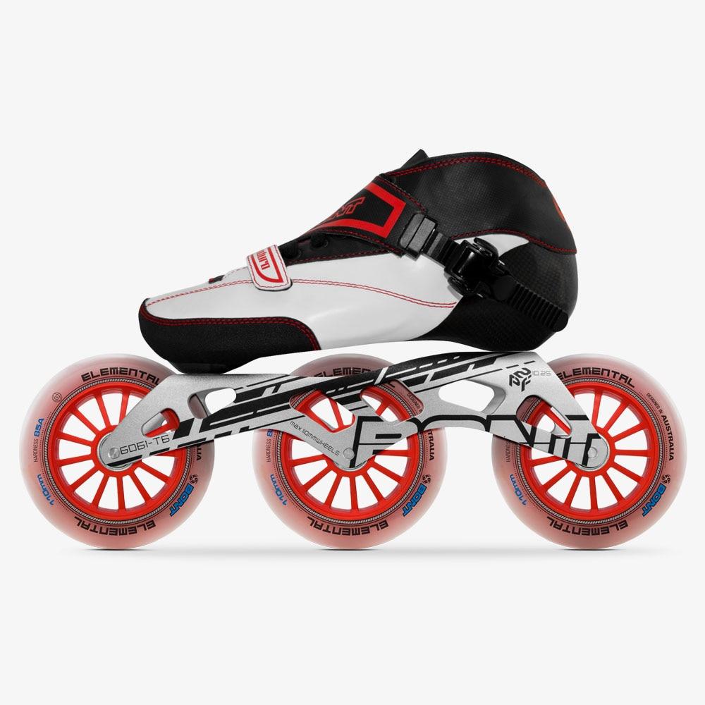 100 Original Bont Enduro Speed Inline Skates Size 29 40 Heatmoldable Carbon Fiber Frame 3 110mm