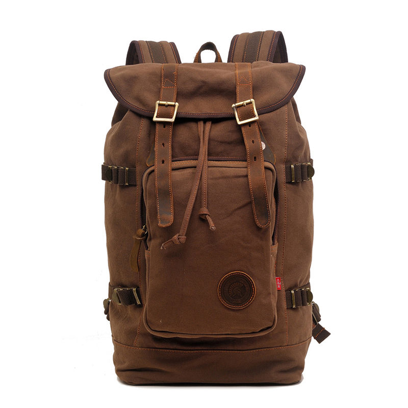 Vintage Canvas Backpack Fashion Canvas Rucksack Daypack Leisure College Bag Travel School Bags Unisex Computer Bag Backpacks new vintage backpack canvas men shoulder bags leisure travel school bag unisex laptop backpacks men backpack mochilas armygreen