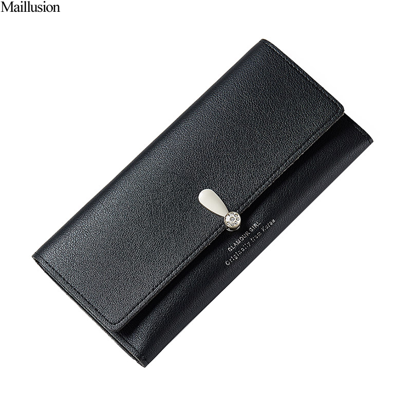 Maillusion Leather Womens Wallets And Purses Women Wallet Zipper Hasp Long Purse Card Holder Wallet Female Diamond Design Pocket wallet female long zipper womens wallets and purses fashion solid genuine leather female wallet hasp women wallets coin purse