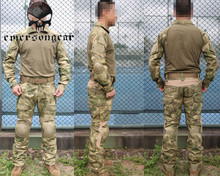 Emerson G2 Tactical Training Uniform Shirt Pants with Elbow Knee Pad Profeesional Military Army Wearable Outdoor Hunting Set