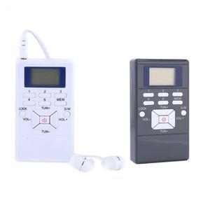 Image 2 - Przenośny mini cyfrowy Stereo LCD modulacja częstotliwości samochód FM Radio cyfrowy sygnał bezprzewodowy odbiornik odtwarzacz z słuchawką