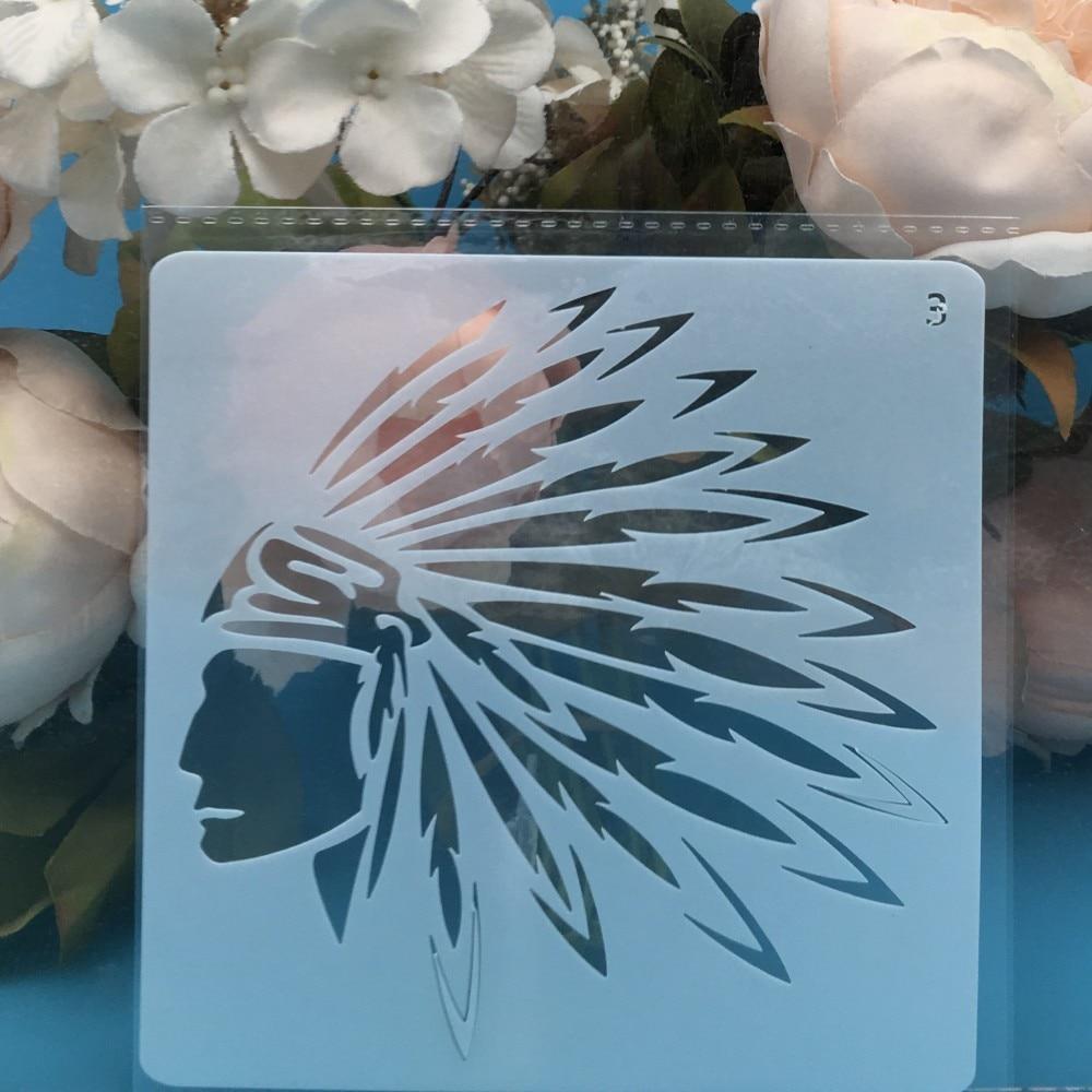 13cm Emirate Leader DIY Layering Stencils Wall Painting Scrapbook Coloring Embossing Album Decorative Card Template