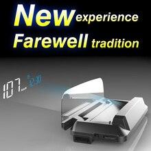 2019 новый автомобильный проектор HUD OBD2 II EUOBD, дисплей на лобовое стекло, Предупреждение о превышении скорости, автомобильная электронная сигнализация напряжения на лобовое стекло