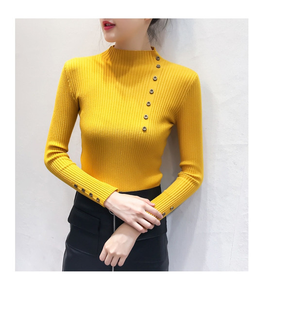 Women Sweater Turtleneck Sweaters Women Korean Fashion Woman Knitted Sweater Women Sweaters and Pullovers Winter Clothes Women 18