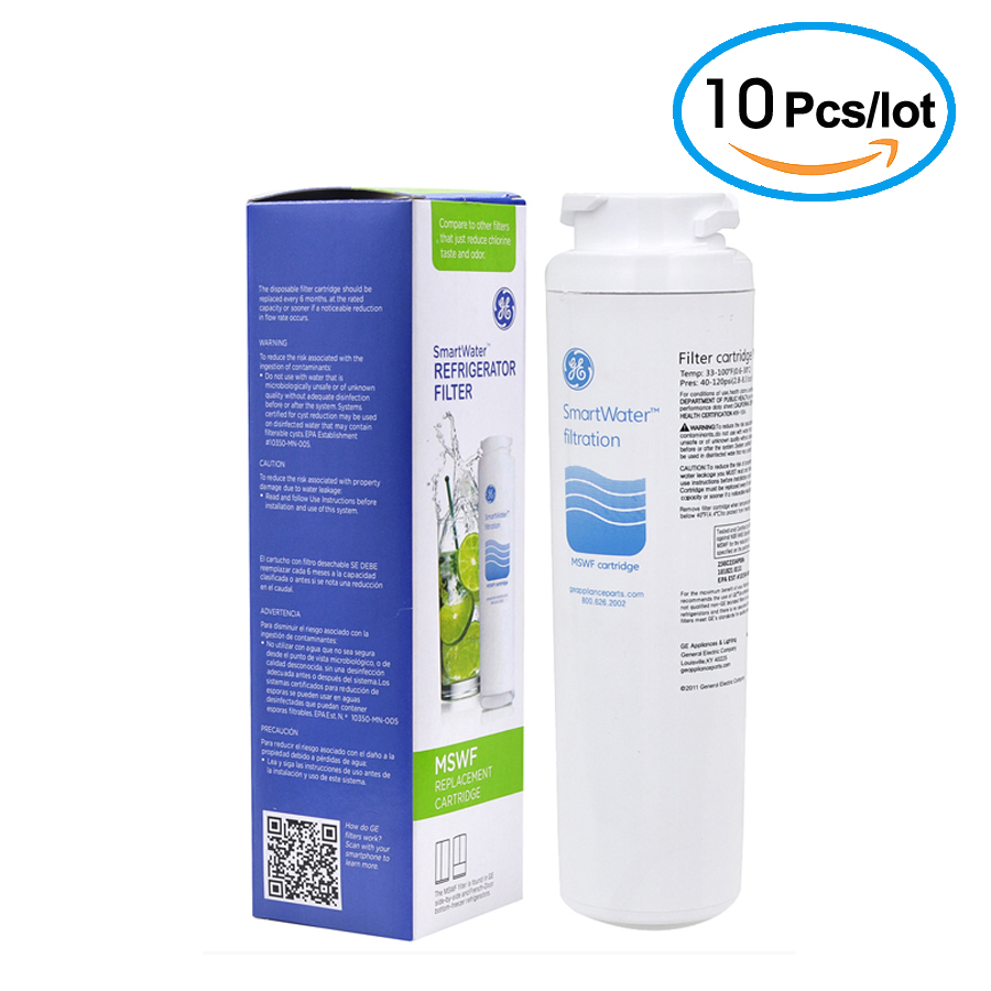 Hot SALE Household Water Purifier Hydrofilter MSWF Refrigerator Water Filter Cartridge Replacement for GE MSWF Filter 10 Pcs/lot hot sale household filter gre1011 refrigerator water filter kitchen activated carbon replacement for ge mwf mwfa 1piece