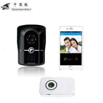 Akıllı IP Video Interkom WI-FI Görüntülü Kapı Telefonu kapı zili WIFI Kapı Zili Kamera Uzaktan kilidini Daireler Için IR Alarm