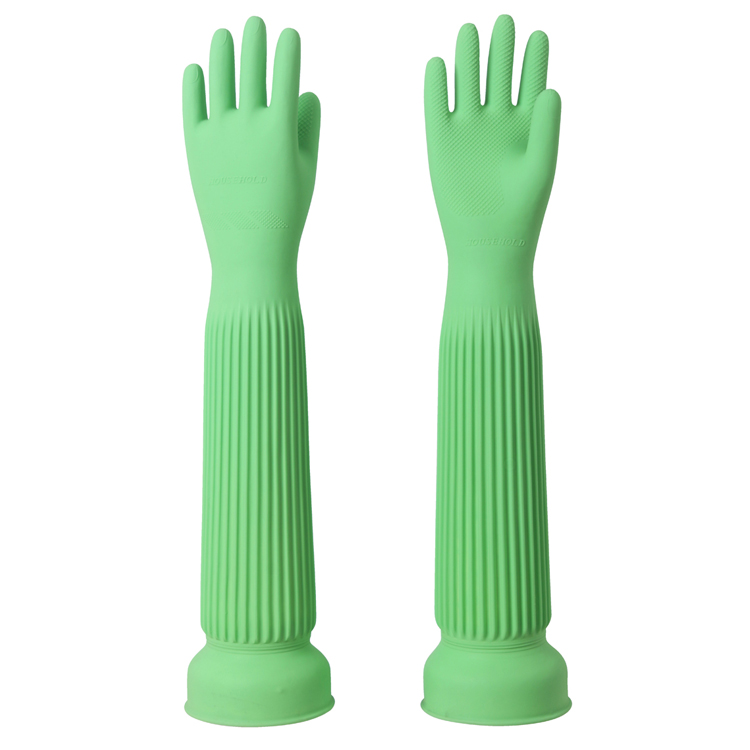 100% natural latex protecting gloves Super length size 58cm Color green vegetable washing and household cleaning working gloves bebeconfort 30000709 2 sucettes natural physio latex t3 3 coloris