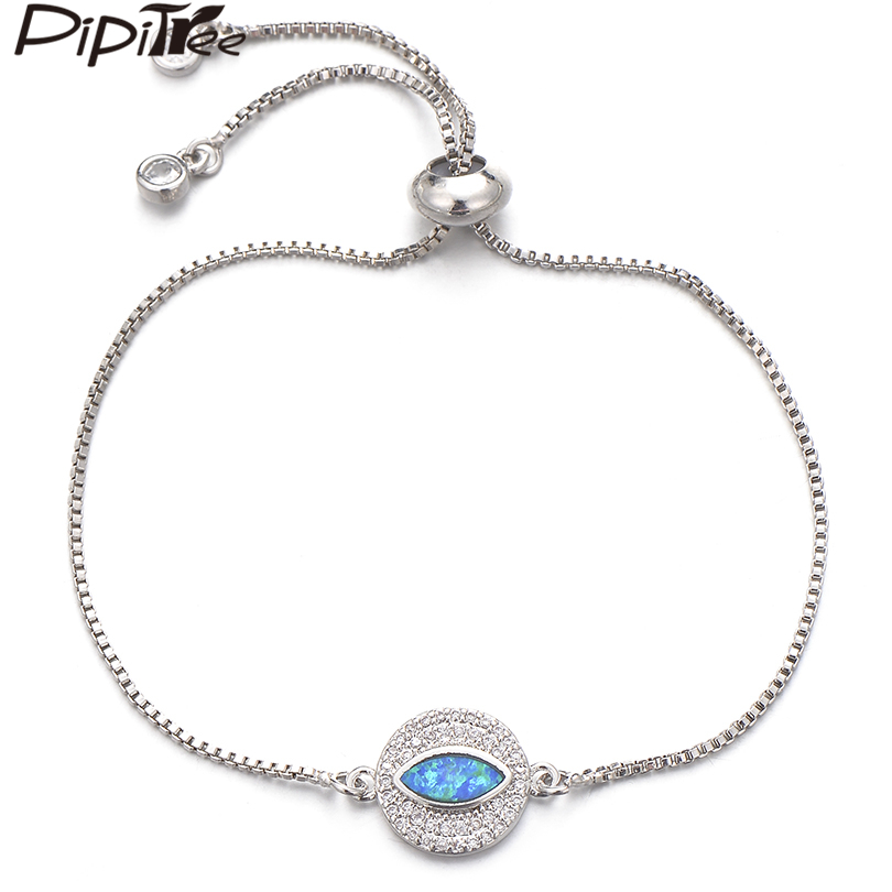 NEW Blue Evil Eye Pendant Charm Silver Necklace Chain Women Fashion Jewelry Gift