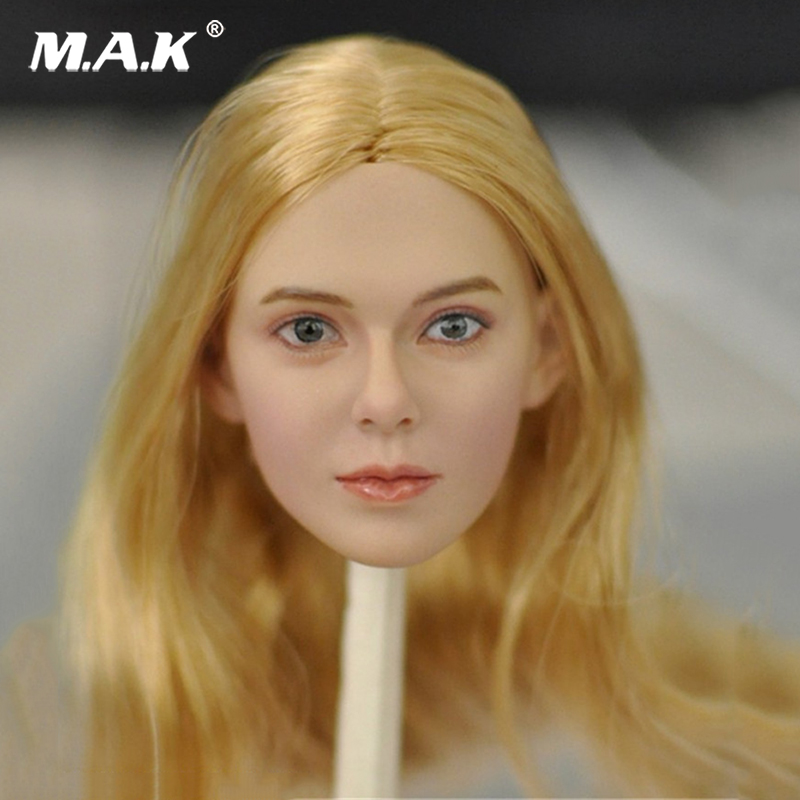 1/6 KM16-96 95 94 Female Figure Blond Hair Head Model For 12 Woman Body Female Colo Action Figure Doll 1 6 scale figure doll plastic model seamless body with metal skeleton female samurai tomoe 12 action figure collectible figure