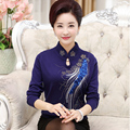 Новых Осенью и зимой кашемир свитер женщин дна рубашки мать одежда среднего возраста женщин свитер пальто шерстяной свитер