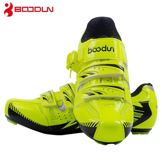 Boodun sapatos de ciclismo respirável antiderrapante profissional auto-bloqueio da bicicleta sapatos de corrida mtb estrada sapatos de ciclismo 2
