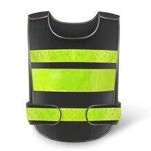 Черная отражательная защитная одежда светоотражающий жилет рабочее место дорожный рабочий мотоцикл Велоспорт Спорт на открытом воздухе печать логотип#001