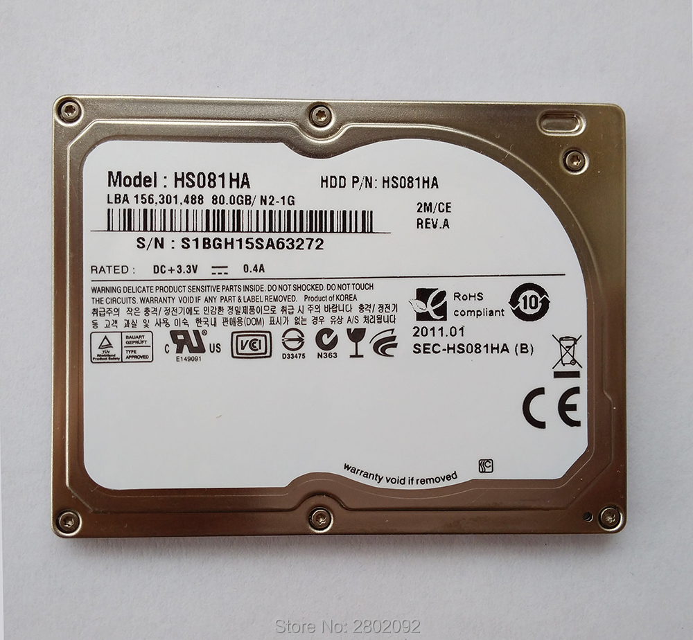 NEW 1 8 Hdd CE ZIF 80GB HS081HA HARD DISK For IPOD CLASSIC 6 GEN REPLACE