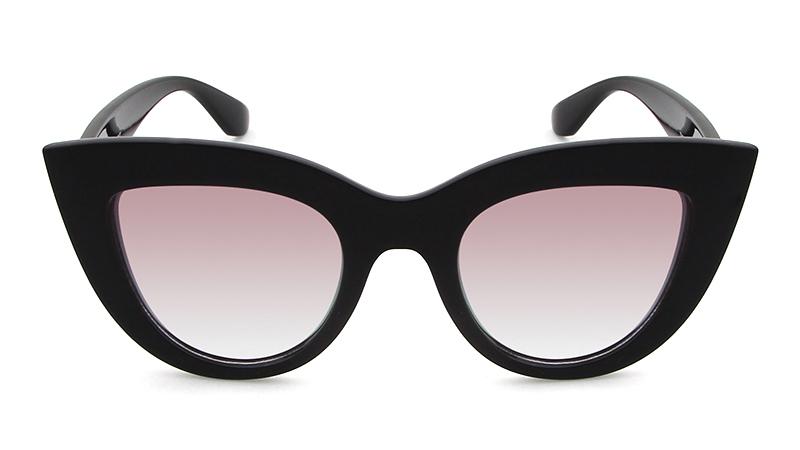 HTB1GU5BRpXXXXawXVXXq6xXFXXX4 - Women's cat eye sunglasses ladies Plastic Shades quay eyewear brand designer black pink sunglasses PTC 221