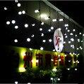 Новый Год Cutton Мяч СВЕТОДИОДНЫЕ Фары Рождественские Открытый Гирлянды Navidad СВЕТОДИОДНЫЕ Рождественские Украшения Строка Сказочных Огней Кортина-Де-