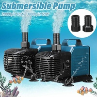 40W 60W Water Pump Aquarium Fish Tank Water Submersible Pump Pool Waterfall Fountain Pumps Inner Circulation Filter with 3Nozzle