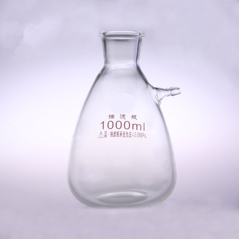 1000ml Glass Buchne Flask with one tube ;Suction Filter Flask;Lab glassware;lab supplies 500ml suction flask accessory flask with side arm filter flask buchne flask