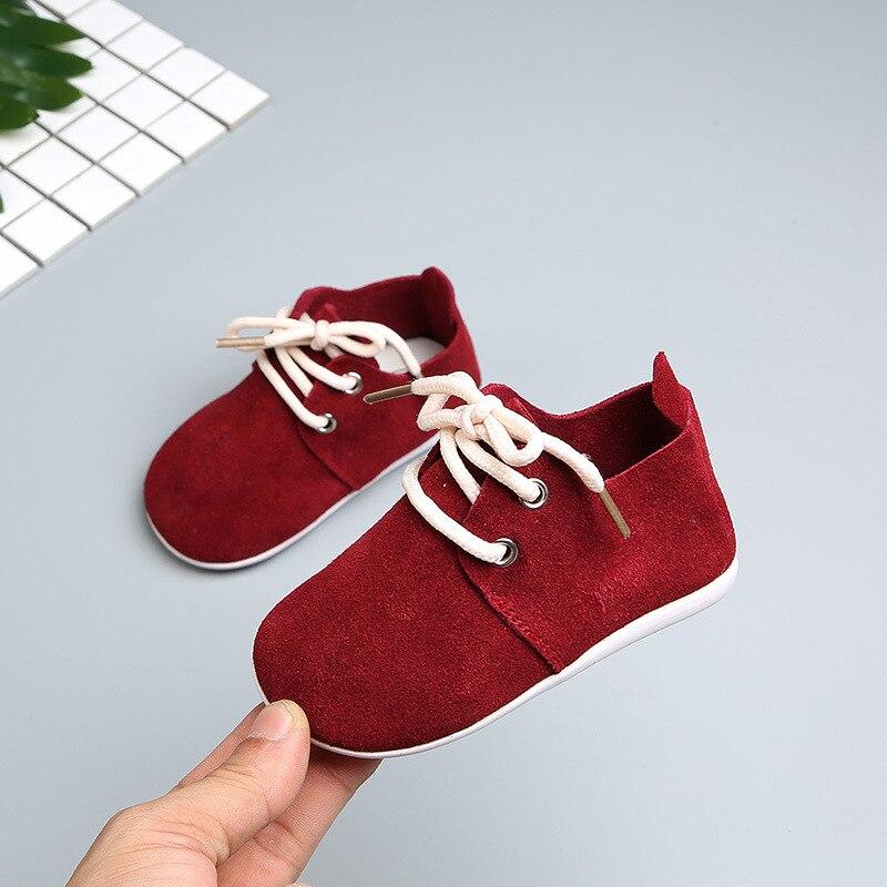 0-1-2 Jahre Alte Britische Design Vintage Toddle Jungen Mädchen Moccsians Leichte Weiche Sohle Lace Up Baby Der Spaziergang Schuh NüTzlich FüR äTherisches Medulla