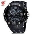 2016 New OHSEN Analog Digital LCD Dual Time Men Military Sport Watch Relogio Feminino Masculino Rubber Wristwatch 50M Waterproof