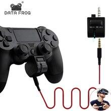 3.5 مللي متر صوت صغير التحكم في مستوى الصوت ل PS4 مقبض سماعة محول ل بلاي ستيشن 4 PSVR الألعاب VR ميكروفون تحكم