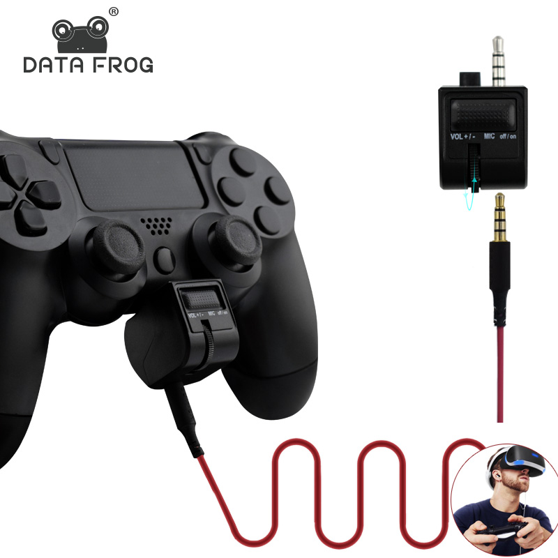 3.5mm Mini Voice Volume Control voor PS4 Handle Headset Adapter voor Playstation 4 PSVR Gaming VR Microfoon Controller