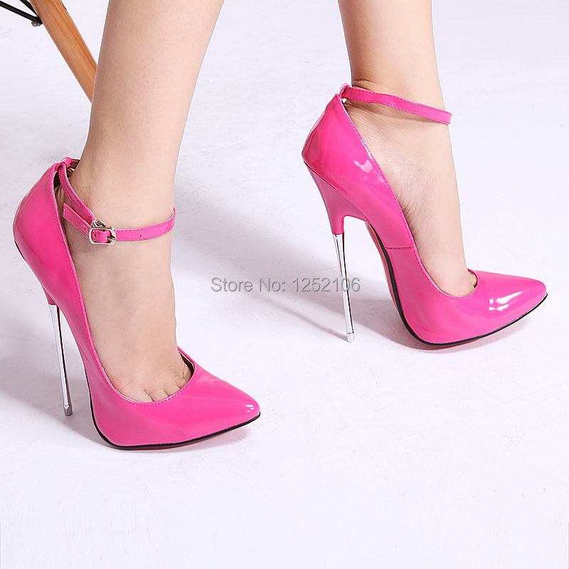 New pointed toe pink patent shiny EXTREME high HEEL 16CM stiletto ...