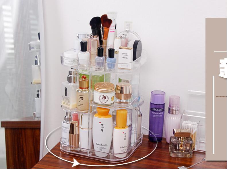 Cosmetics Boxes Transparent Rotating Shelf Yakeli