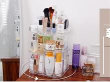 Cosmetics boxes transparent rotating shelf yakeli