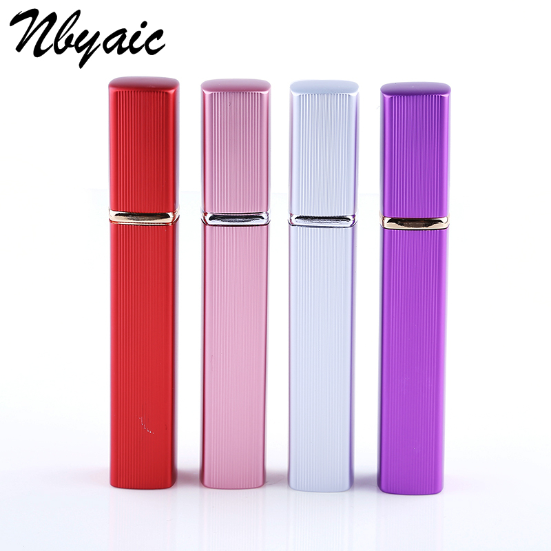 Nbyaic 1Pcs New Arrival 12ML Portable Mini Travel Perfume Bottle Vaporizador 6 Colors Parfum Bottles For Spray Scent Pump Case