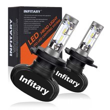 Infitary Car LED Headlight Bulbs All in One S1 H7 H11 H1 880 H3 9005 9006 50W 8000LM H4 H13 9007 High Low Beam Lights Headlamp(China)
