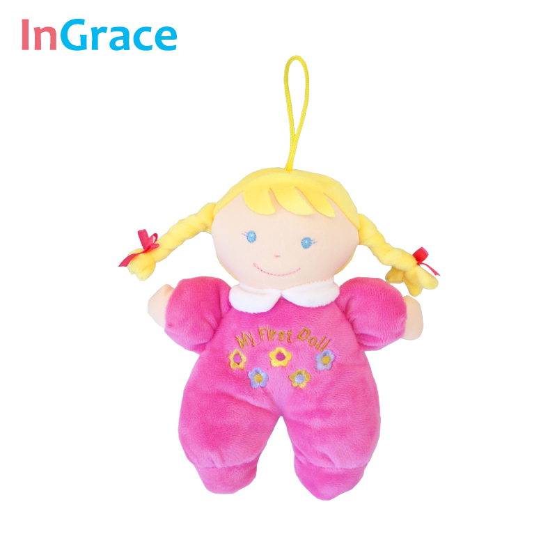 Ingrace fashion baby born doll 3 color soft Rattle toy stuff and baby - Anak patung dan aksesori - Foto 4