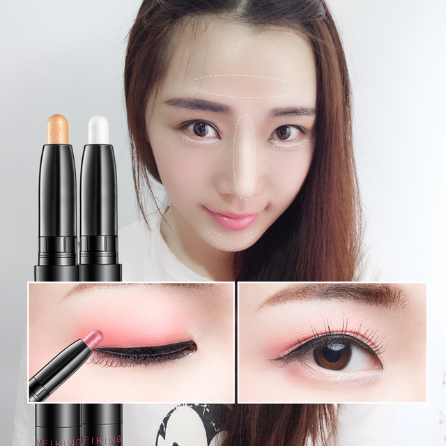 MEIKING makeup Eye Shadow & Liner Combination  Multi-Use Chunky Pencils for Eyeliner brand of glitter waterproof eyeliner pencil