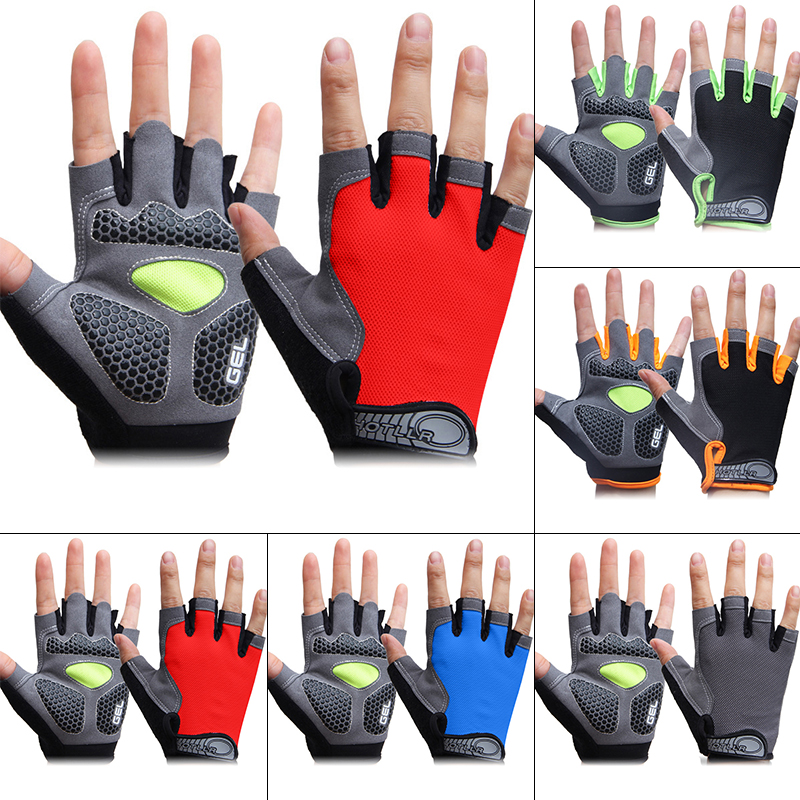 Sport Bicycle Protective Gloves Ventilate Fitness Equipment Bicycle Outdoor Fishing Cycling Half-Finger Anti-skid Safety Gloves