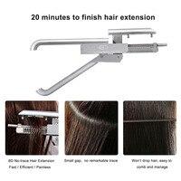 Высокого класса профессиональный 6D без следа волос машина высокое качество натуральной волос Стиль парик разъем инструмент кератина волос